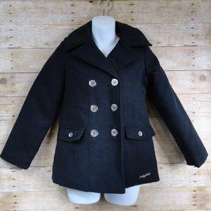 Girls' Baby Phat Girlz Black Lined Pea Coat